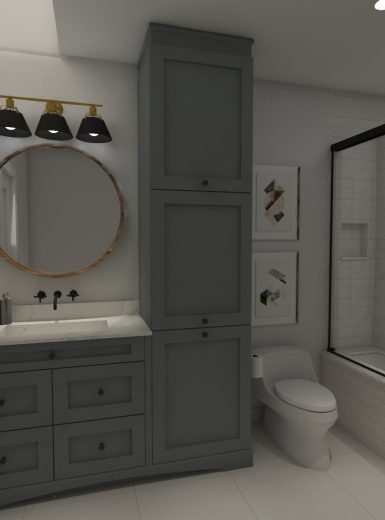 elegant bathroom, farmhouse
