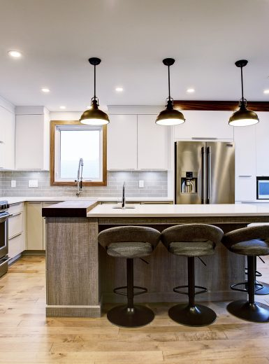 modern, contemporary, walnut, metal pendants,