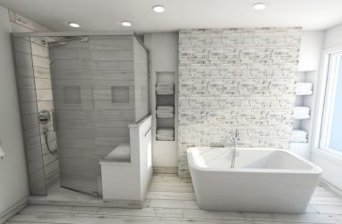 modern elegant bathroom design, white bathroom design, glam style bathroom