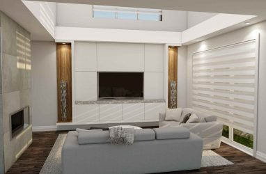 tv unit design, custom wall unit, modern wall unit, walnut finishes,